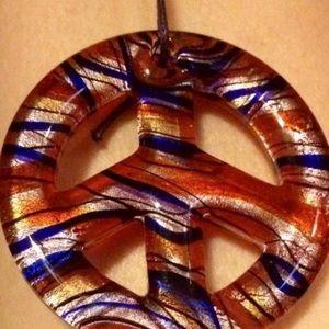 Murano Peace Symbol Necklace